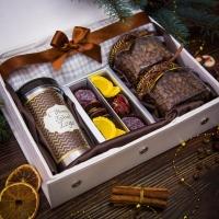 Ароматный и уютный кофейный подарочный набор в кожаной шкатулке Рептилия