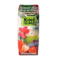 Кокосовая вода King Island с фруктовым соком со вкусом клубники,граната и винограда 250 мл