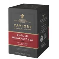 Чай черный Taylors of Harrogate Английский завтрак 20 пакетиков в упаковке 50 гр