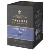 Чай черный Taylors of Harrogate Эрл Грей с ароматом бергамота 20 пакетиков в упаковке 50гр