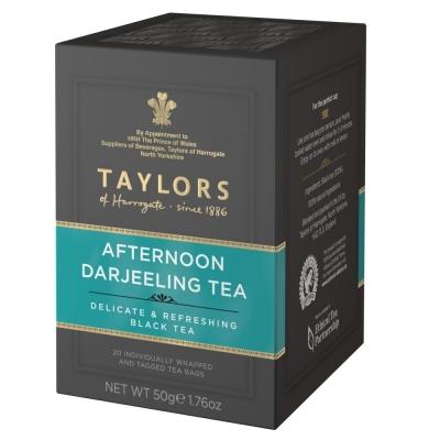 чай черный Taylors of Harrogate Дарджилинг Полдник 20 пакетиков в упаковке 50 гр