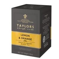 Чай черный Taylors of Harrogate с ароматом лимона и апельсина 20 пакетиков в упаковке 50гр