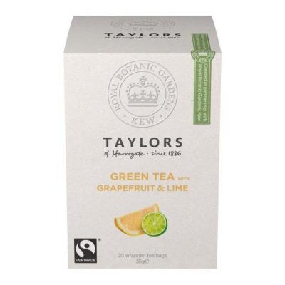 Чай зеленый Taylors of Harrogate Грейпфрут и Лайм 20 пакетиков в упаковке 30 гр