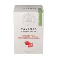 Чай зеленый Taylors of Harrogate Клубника с ванилью 20 пакетиков в упаковке 30гр