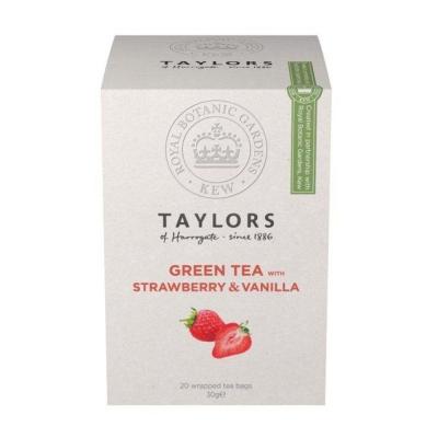 Чай зеленый Taylors of Harrogate Клубника с ванилью 20 пакетиков в упаковке 30 гр