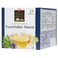 Травяной чай в пакетиках Swiss Alpine Herbs для сладких снов 14шт х по 1 г