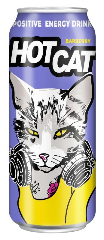 Напиток энергетический газированный HotCat Barberry 0,45 л