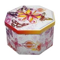 Чай Hilltop Королевское золото в восьмигранной банке Хорошее настроение 150 гр