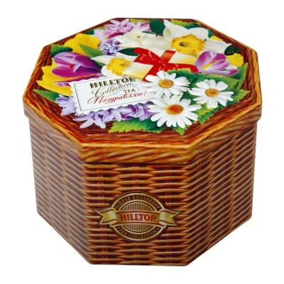Чай Hilltop Праздничный в восьмигранной банке Поздравляю! 150 гр