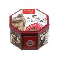Чай Hilltop Черный лист в 8-гранной банке Прогулки по Лондону 150 гр