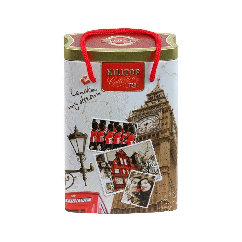 Чай Hilltop Эрл Грей в банке-пакете Прогулки по Лондону 125 гр