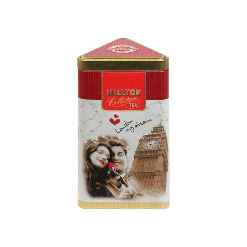 Чай Hilltop Молочный оолонг в треугольная банка Прогулки по Лондону 80 гр
