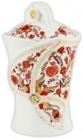 Чай Hilltop Королевское золото в керамической чайнице Цветочный орнамент 100гр