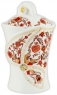 Чай Hilltop Королевское золото в керамической чайнице Цветочный орнамент 100 гр