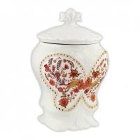 Чай Hilltop с чабрецом в керамической чайнице Цветочный орнамент 100 гр