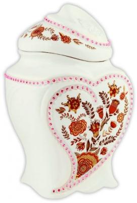 Чай Hilltop 1001 ночь в керамической чайнице Цветочный орнамент 100 гр