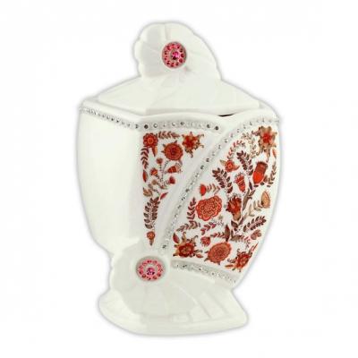 Чай Hilltop Эрл Грей в керамической чайнице Цветочный орнамент 100 гр