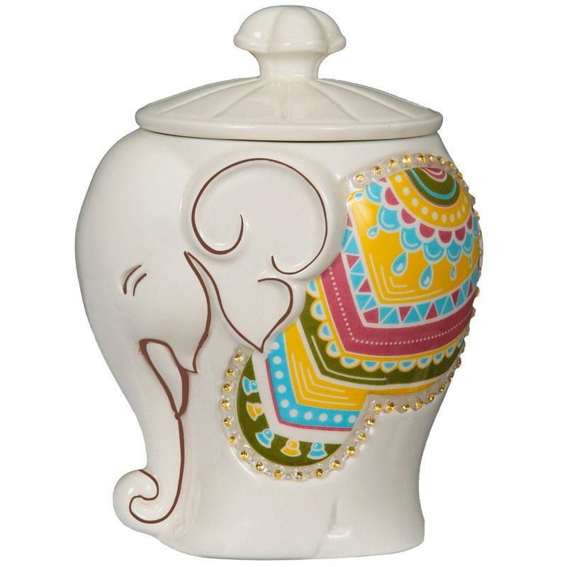 Чай Hilltop Подарок Цейлона в керамической чайнице Слоник 50 гр
