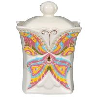 Чай Hilltop Земляника со сливками в керамической чайнице Бабочка 50 гр