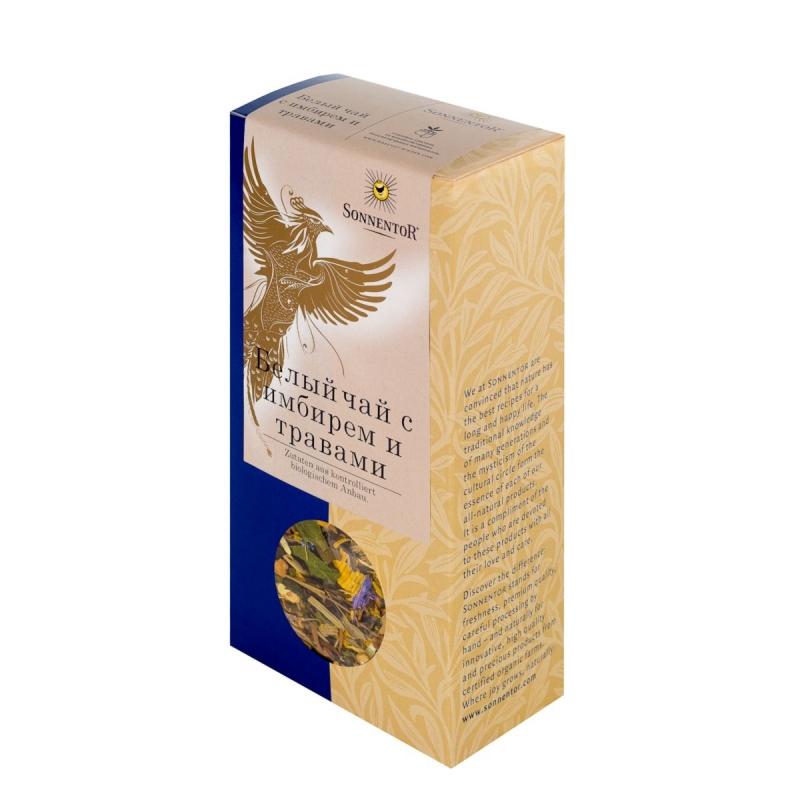 Белый чай Sonnentor с имбирем и травами 70 г