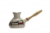 Турка керамическая Кандинский, белая 350 мл