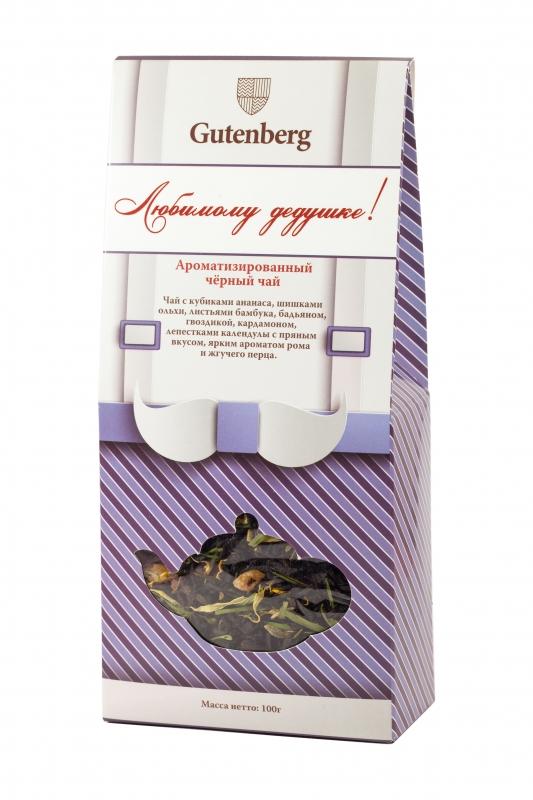 Чай чёрный ароматизированный Gutenberg Любимому дедушке 100 г
