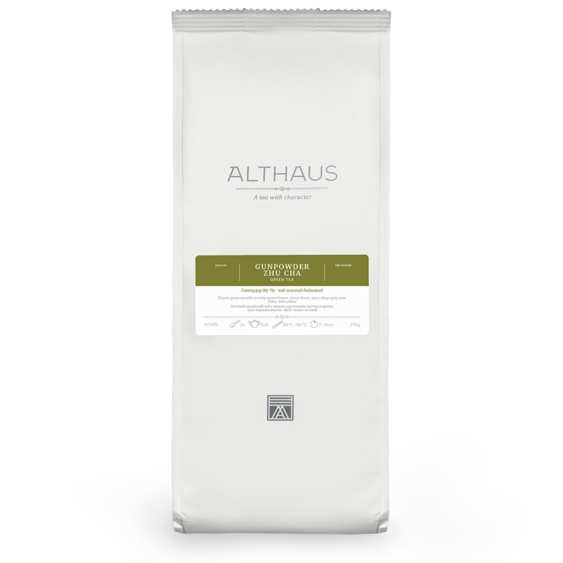 Чай Althaus Gunpowder Zhu Cha зелёный листовой 250 гр