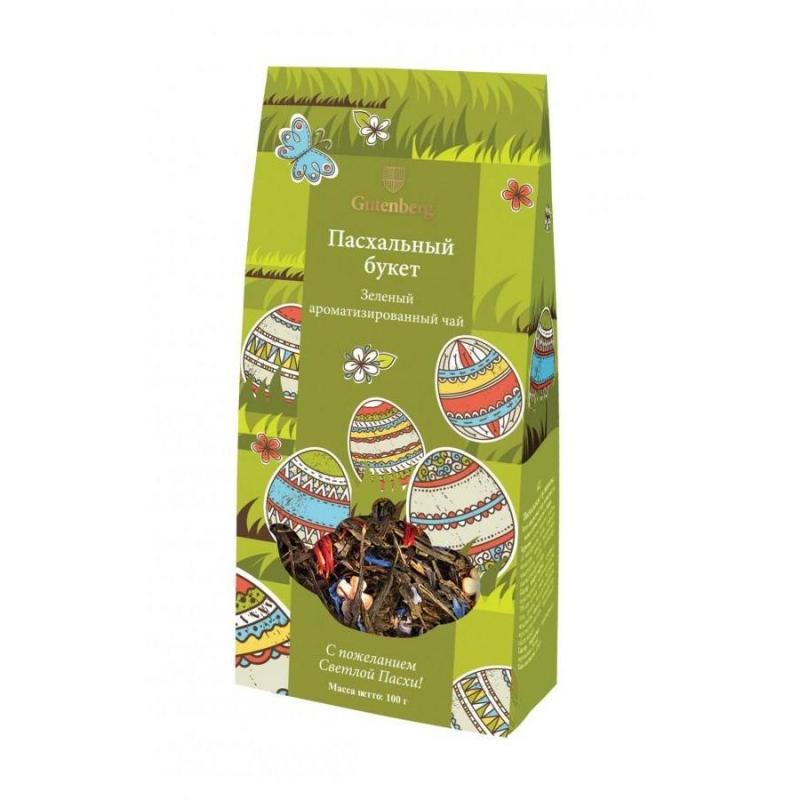 Чай зелёный ароматизированный Gutenberg Пасхальный букет 100 г