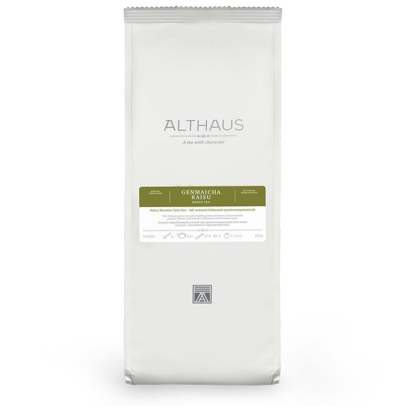 Чай Althaus Genmaicha Raisu зелёный листовой 100 гр