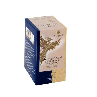 Белый чай в пакетиках Sonnentor с имбирем и травами 18 шт х по 15 г