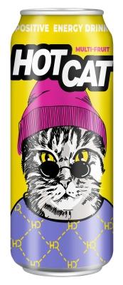 Напиток энергетический газированный HotCat Multi-fruit 0,45 л