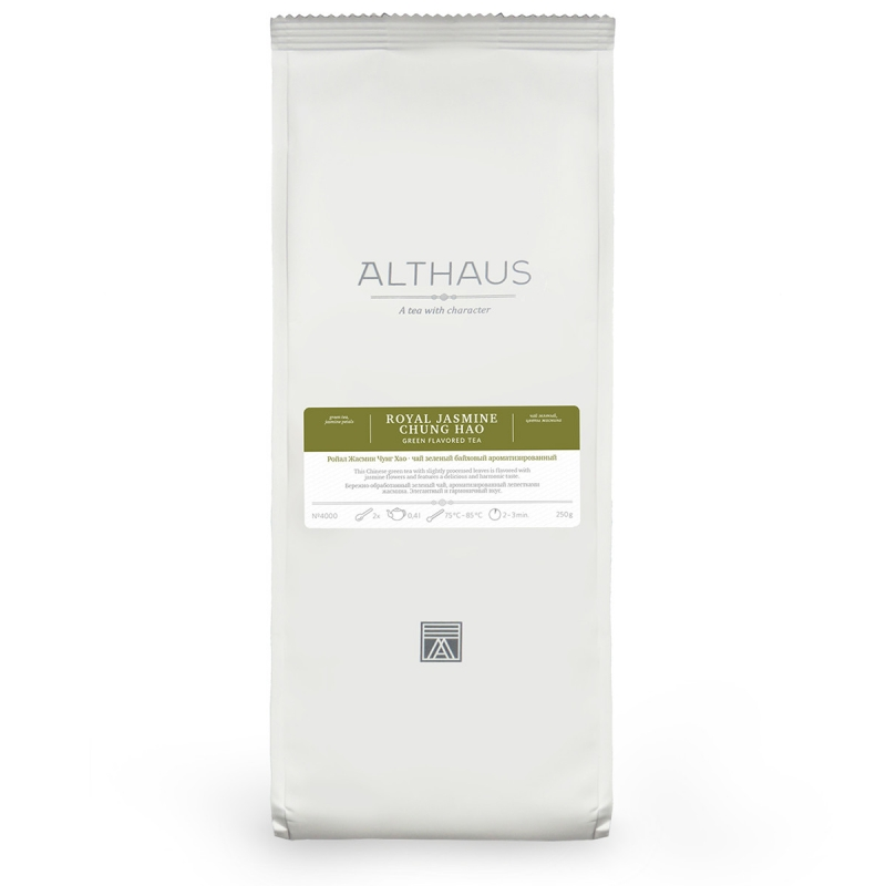 Чай Althaus Royal Jasmine Chung Hao зелёный листовой 250 гр