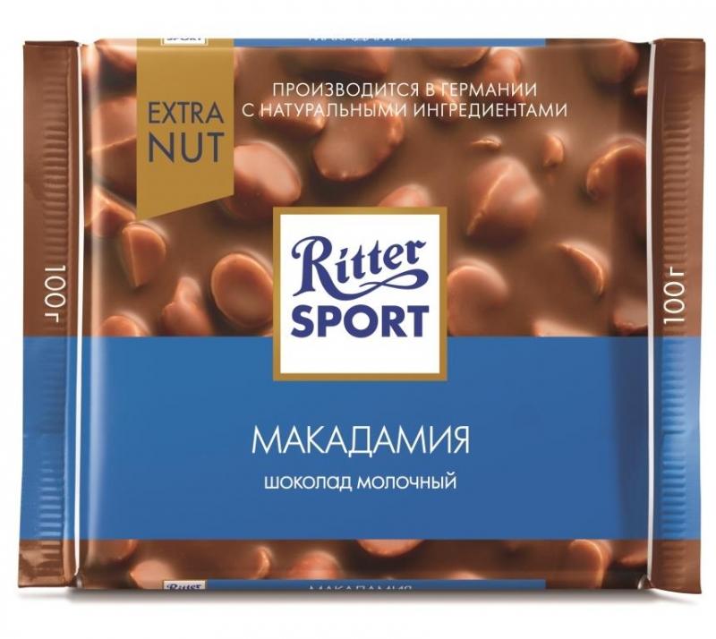 Шоколад Ritter Sport Extra Nut Макадамия молочный 100 г