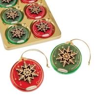 Шоколадный диск GUNTHART ёлочная игрушка с деревянным декором 24 г