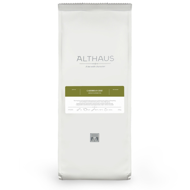 Чай Althaus Caribbean Zest зелёный листовой 250 гр