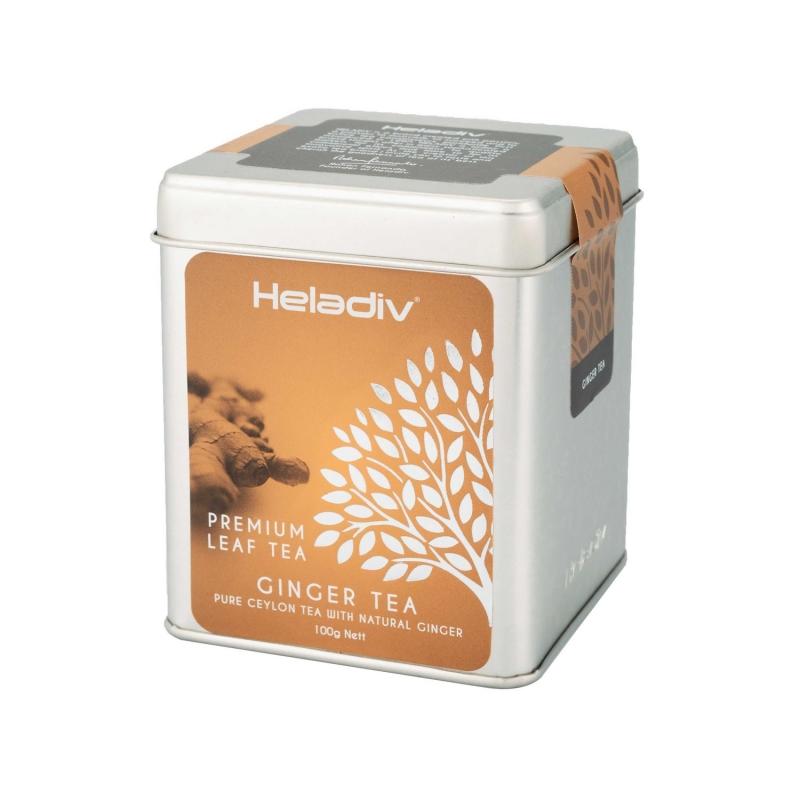 Чай черный Heladiv Ginger Tea листовой с кусочками имбиря 100 г