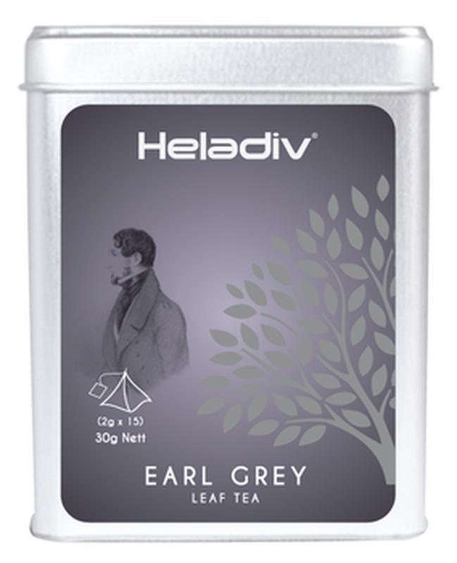 Чай черный Heladiv Pyramid Earl Grey с бергамотом в пирамидках 15 шт