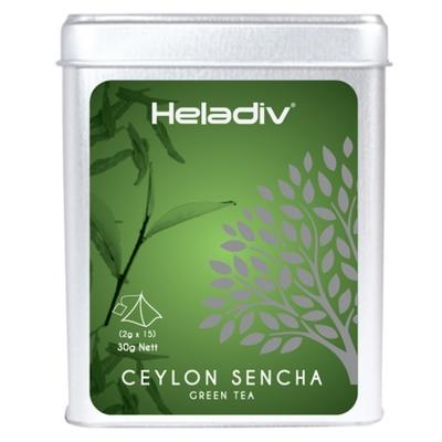 Чай зеленый Heladiv Pyramid Ceylon Sencha зелёный в пирамидках 15 шт