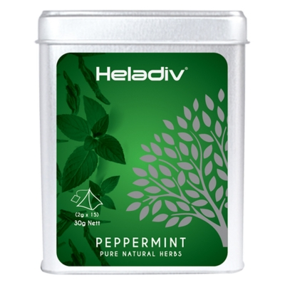 Чай зеленый Heladiv Pyramid Peppermint мята перечная в пирамидках 15 шт