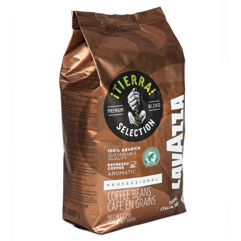 Кофе Lavazza Tierra Intenso в зернах 1 кг - купить в интернет магазине MugDuo