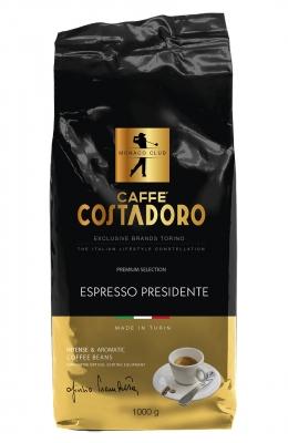 Кофе Costadoro Espresso Presidente в зёрнах 1 кг