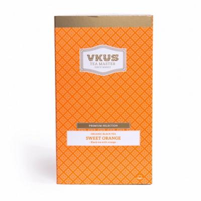 Чай VKUS Черный Сладкий Апельсин 20 шт х 2,5 г