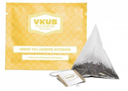 Чай VKUS Зелёный c Жасмином 50 шт х 1,75 г