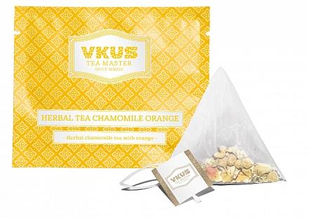 Чай VKUS Травяной Ромашка с Апельсином 50 шт х 2 г