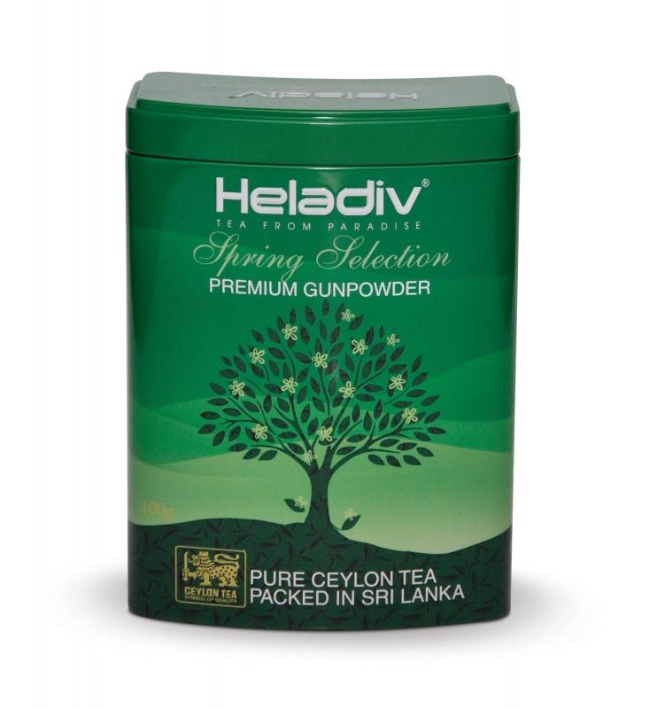 Чай зеленый Heladiv Selection Spring Gunpowder весенний из коллекции времена года 100 г