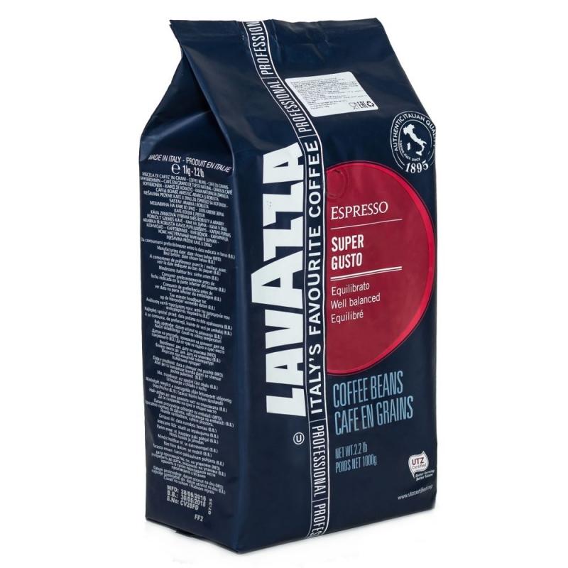 Кофе Lavazza Super Gusto в зернах 1 кг