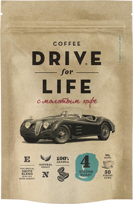 Кофе Drive For Life Strong №4 сублимированный c молотым 90 г