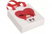 Шоколадные конфеты Sorini Praline в коробочке с бантом и ручкой 120 г