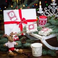 Подарочный набор в белоснежной гофре «Фаворит»