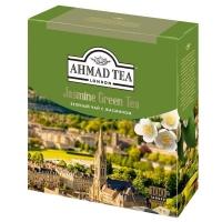 Чай Ахмад зеленый с Жасмином в пакетиках 100штук